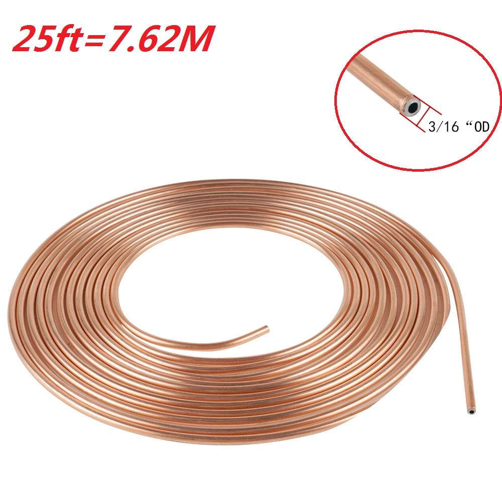 Nickel//Copper Brake Line Tubing Coil 3//16 x 25