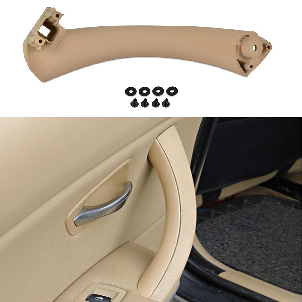 Beige Left Inner Door Panel Handle Pull Trim For BMW 3 Series E90 E91 2004-2012