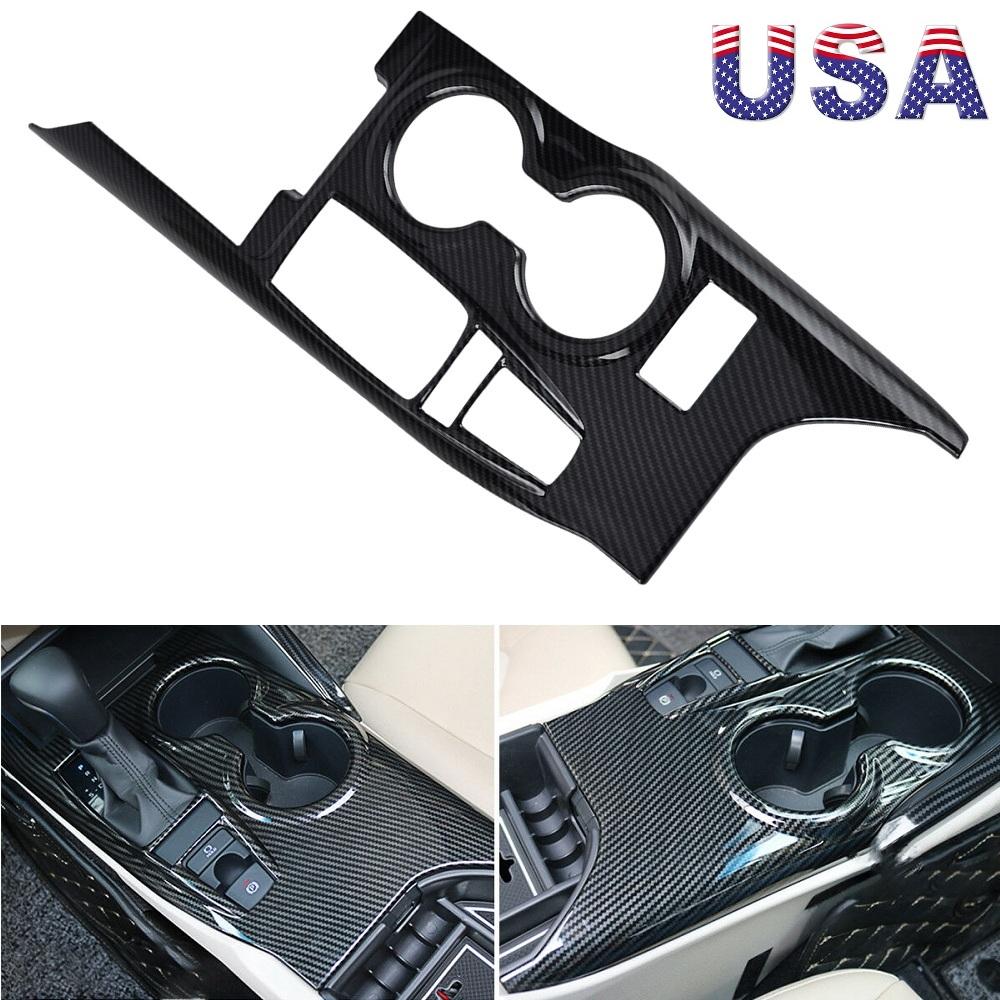 For TOYOTA CAMRY 2018 Carbon Fiber Inner Gear Shift Box Panel Frame Cover Trim
